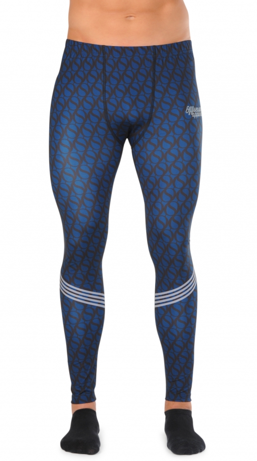 Men: Compression tights royal blue